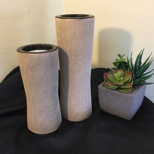 Unique Clay Tea Light Holders-Set of 2